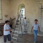 Restauration des murs de la chapelle