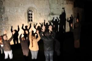 Un bel effet de constellations sur la chapelle!
