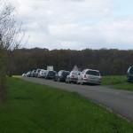 Stationnement jusqu'à la forêt vers Belgeard
