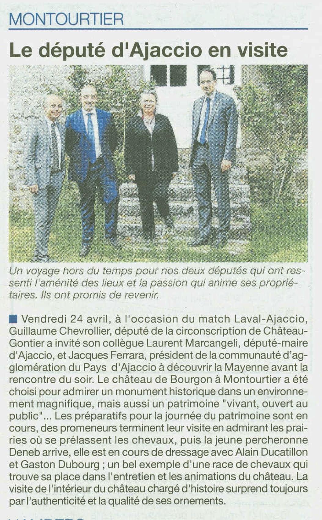 CDLM deputes en visite a Bourgon