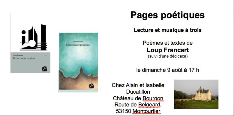 loup francart pages poetiques